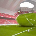3D stadyum modeli tasarımım: Estadio de zdaylan